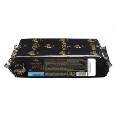 Caraïbe 66% chocolat noir de couverture Mariage de Grands Crus blocs 3 kg