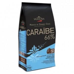Caraïbe 66% chocolat noir de couverture Mariage de Grands Crus fèves 3 kg