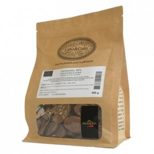 Caramélia 36% milk and caramel chocolate Gourmet Creation beans 500 g