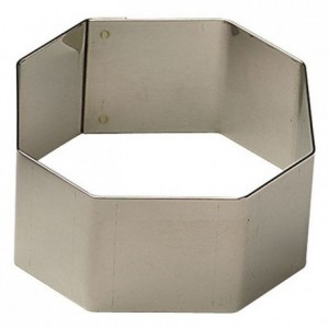 Square faceted stainless steel  H30 60x60 mm (pack of 6)