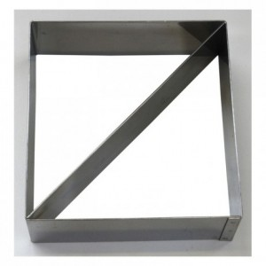 Duo mousse square stainless steel H45 120x120 mm