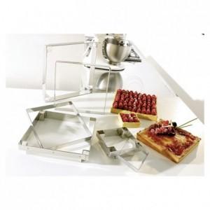 Carré à tarte inox 150 x 150 x 20 mm