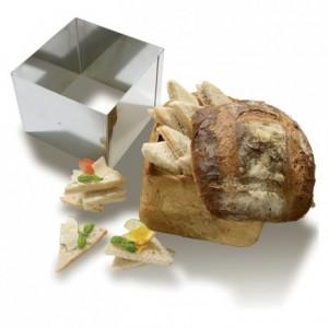 Carré à pain surprise en inox 200 x 200 x 140 mm