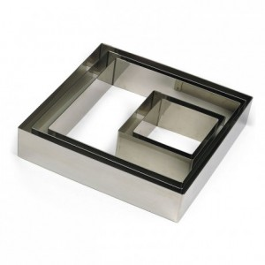 Square stainless steel H45 100x100 mm