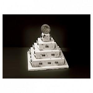 Carré inox Wedding Cake à la Française carré 80 x 50 mm