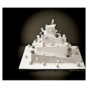 Carré inox Wedding Cake à la Française déstructuré 80 x 105 mm