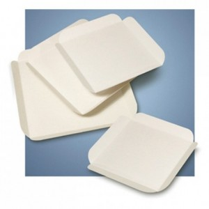 Carré rainé blanc 110 x 110 mm (lot de 250)