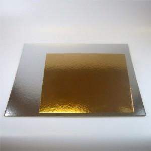 Carrés à gâteau or/argent 35 cm 3 pièces
