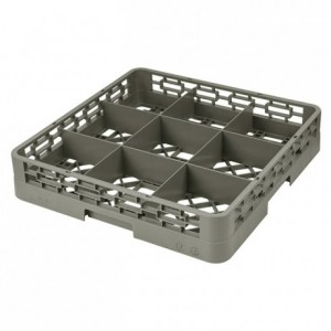 9-compartment dishwasher tray 152 x 152 x 100 mm