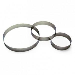 Cercle à entremet inox H35 Ø80 mm (lot de 6)