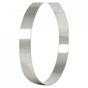 Cercle à entremets en inox Ø 180 mm H 35 mm