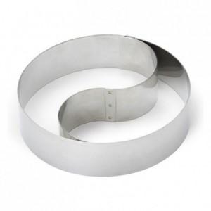Cercle à mousse Duo bombé inox H45 Ø180 mm