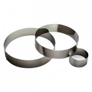 Cercle à mousse inox H40 Ø70 mm (lot de 6)