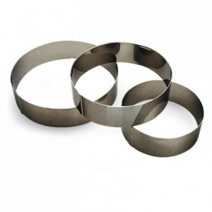 Mousse ring stainless steel H50 Ø55 mm (pack of 6)