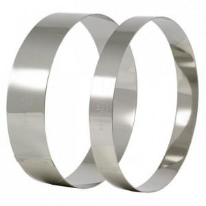 Cercle à mousse inox Ø 200 mm H 45 mm