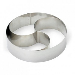 Ice cream cake ring stainless steel H60 Ø180 mm