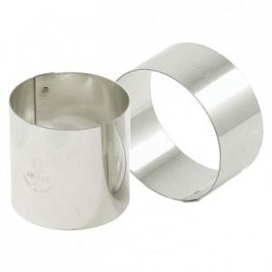 Nonnette ronde en inox Ø 75 mm H 40 mm (lot de 4)
