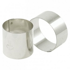 Mousse ring stainless steel Ø 80 mm H 45 mm (4 pcs)