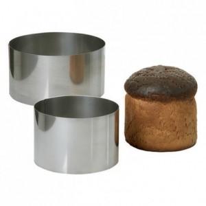 Cercle à pain surprise en inox Ø 220 mm H 90 mm