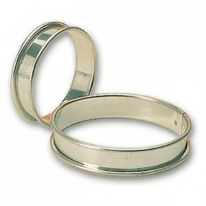 Cercle à tarte en inox Ø 80 mm H 16 mm (lot de 6)