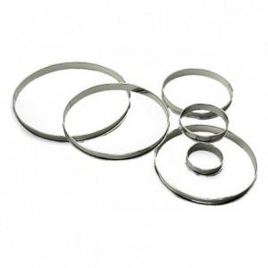 Tart ring stainless steel H20 Ø100 mm