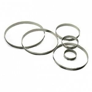 Tart ring stainless steel H20 Ø160 mm