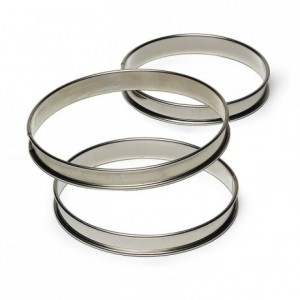Tart ring stainless steel H27 Ø300 mm