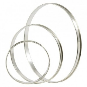 Tart ring stainless steel Ø 300 mm H 20 mm