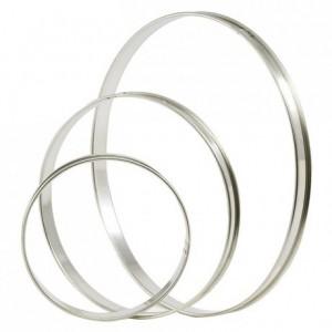 Tart ring stainless steel Ø 320 mm H 20 mm