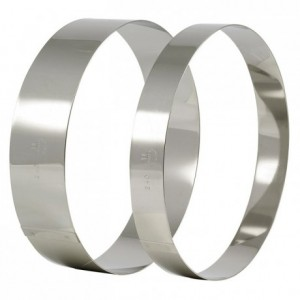 Cercle à vacherin en inox Ø 280 mm H 60 mm