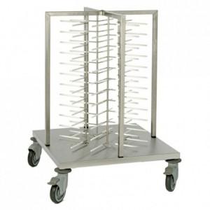 Chariot de stockage 48 assiettes 700 x 700 x 1030 mm