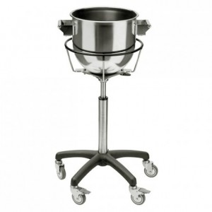 Stainless steel bowl holder trolley Ø 555 mm