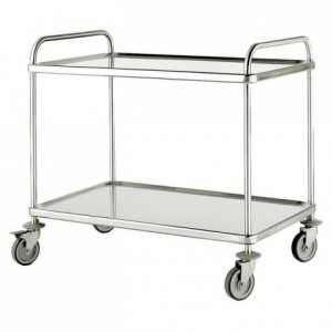 Serving trolley 2 tiers 840 x 550 x 960 mm