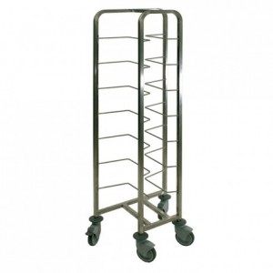 Dough container trolley 370 x 590 x 1790 mm