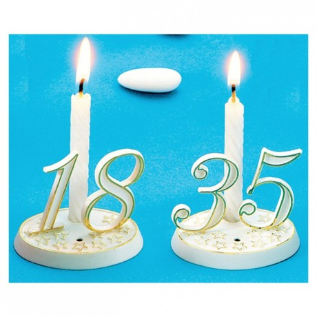 White And Gold Number Decoration 0 10 Pcs