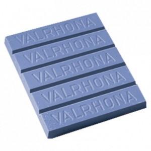 Chocolat décor bleu 35% blocs 3 kg