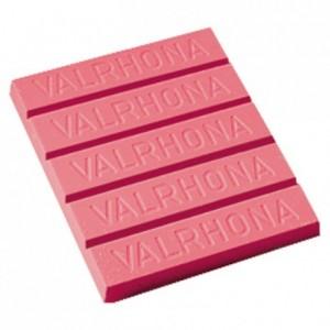 Chocolat décor rose 35% bloc 3 kg