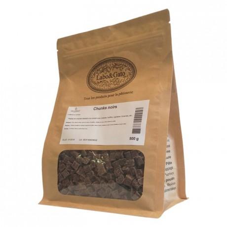 Dark chocolate chunks 8 x 8 x 6 mm 500 g