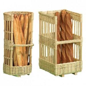 Claie à pain rectangulaire en osier 400 x 400 mm H800 mm