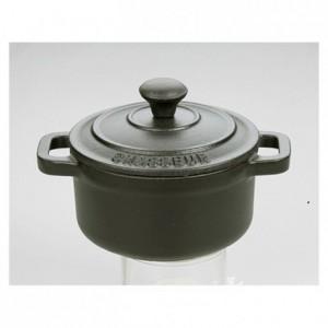 Cocotte mini ronde fonte noir Le Chasseur avec couvercle Ø 100 mm