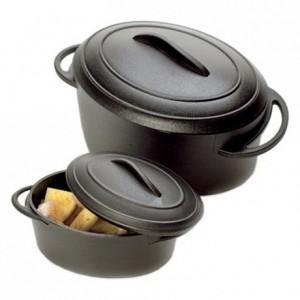 Cocotte ovale noire 8 cL (lot de 144)