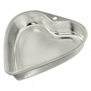 Coeur bordé fer blanc 225x187 mm (lot de 3)