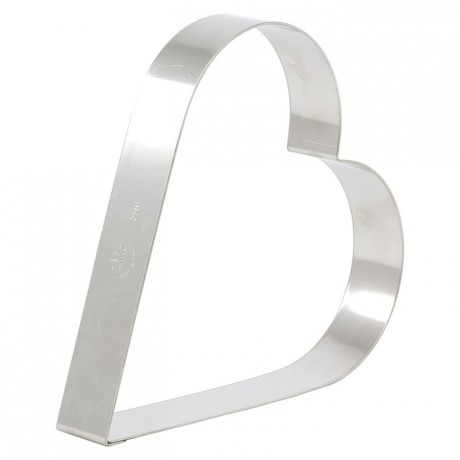 Heart cake ring stainless steel 120 x 35 mm