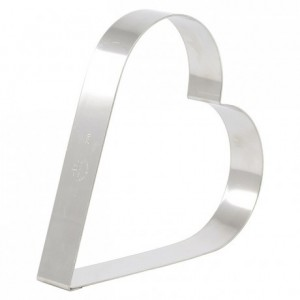 Heart cake ring stainless steel 220 x 35 mm