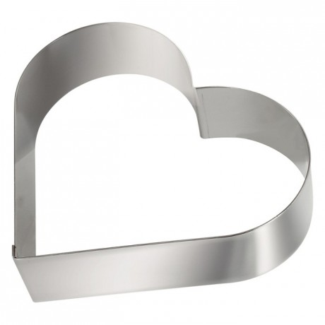 Heart stainless steel H45 180x160 mm