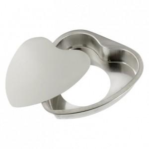 Coeur Saint Valentin fond mobile fer blanc 160x150 mm (lot de 3)