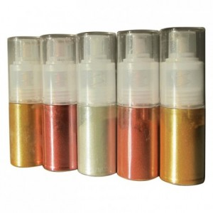 Powder colouring in atomiser, Light gold 10 g