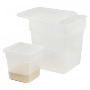 Square container for ingredients PP 18 L
