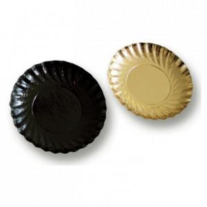 Coupelles rondes carton noires Ø 90 mm (lot de 2000)