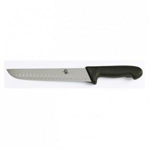 Couteau à découper lame alvéolée manche noir L 240 mm